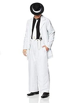 Dreamgirl Men s Zoot Suit Riot Costume White/Black Medium