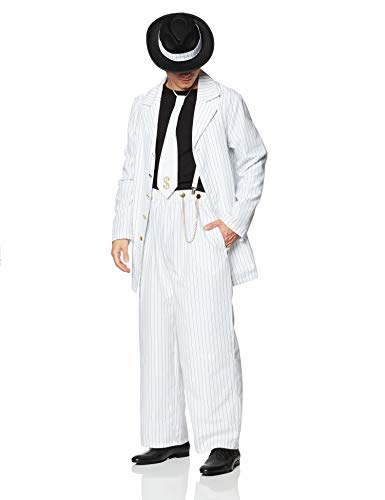 Dreamgirl Men's Zoot Suit Riot Costume, White/Black, X-Large