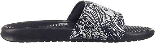 Nike Benassi JDI Print, Zapatillas de Gimnasia para Hombre, Gris (Obsidian/Pure Platinum 403), 40 EU