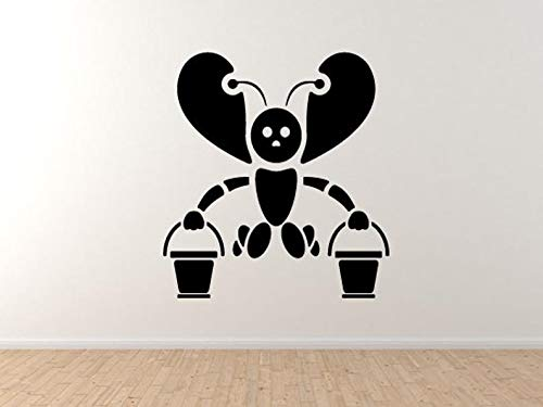 Bee Icon #4- lokale kolonie Honingraat Honing emmer Nectar Hive muur Vinyl Decal Home Decor