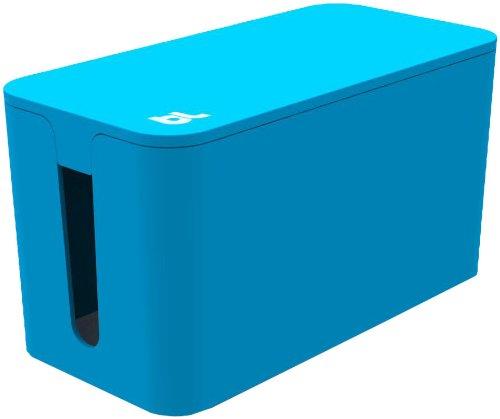 Bluelounge Mini CableBox voor mobiele kabels kabels kan houden 4 Socket Surge Protection - Blauw