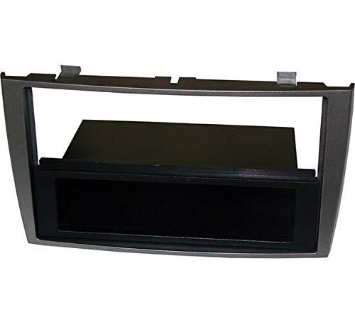 Mascherina autoradio 1 DIN con cassetto. Colore grigio