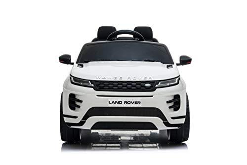 TOYSCAR electronic way to drive Auto Macchina Elettrica Range Rover Evoque 12V per Bambini Porte apribili con Telecomando Full Accessori (Bianca)