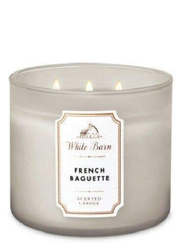 Bath and Body Works White Barn French Baguette 3 Wick Candle 14.5 Ounce 2019