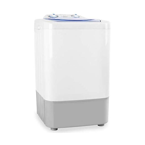 Oneconcept SG002 Camp Edition – Mini-Lavadora, Capacidad de 2,8 kg, Potencia de 250 W, Programador para lavado, Bajo…