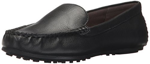 Aerosoles Women's Over Drive Loafer, Black Leather, 9.5 M US