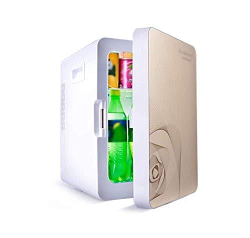 Koelbox, 16 l, 12 V DC, 220 V AC, autokoelkast, koelbox, huishouden, studentenhuis, frisse kast, koelkast, buitenafmetingen: 45 x 33 x 28 cm, binnenmaat: 35 x CZ goud