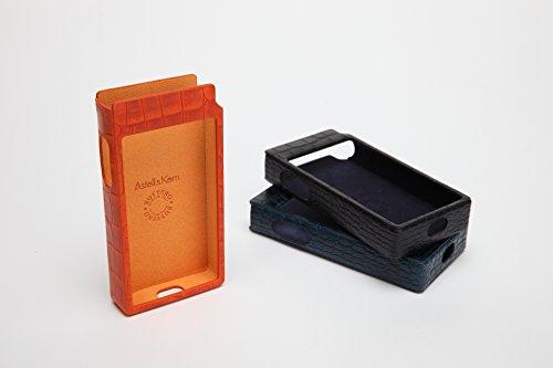 Astell & Kern Echtleder-Schutzhülle für AK100 II Digital-Audio-Player, Schwarz Orange