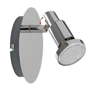 Trango 1-flammig LED Wandleuchte/Wandlampe/Deckenleuchte/Deckenstrahler TG2890-018 inkl. 3,0 Watt GU10 LED Leuchtmittel 3000K Warm-Weiß, Deckenstrahler drehbar und schwenkbar