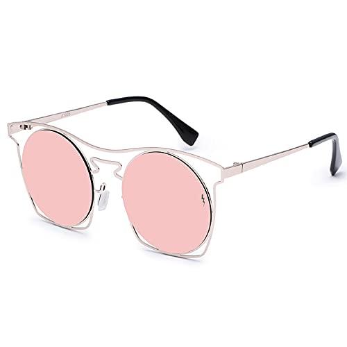 JINZUN Gafas de Sol Casuales Gafas de Sol Retro de Metal para Hombres y Mujeres Gafas de conducción clásicas Montura Redonda