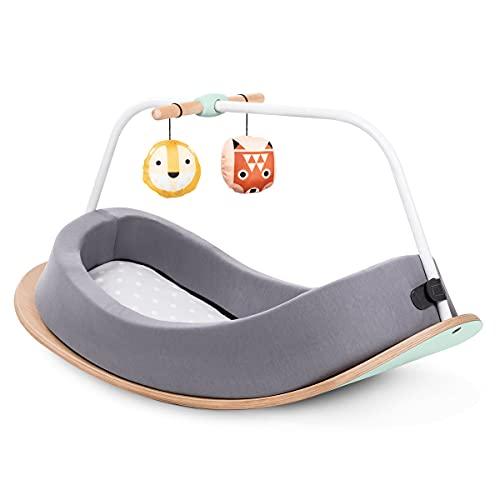 Lalaloom DREAMY BALANCE - Kinderkurvenbrett aus Holz, 3 in 1 Lernspielzeug: Schaukelstuhl, Baby-Gym und Montessori-Balanceboard, Wippe für Jungen und Mädchen von 0 bis 6 Jahren