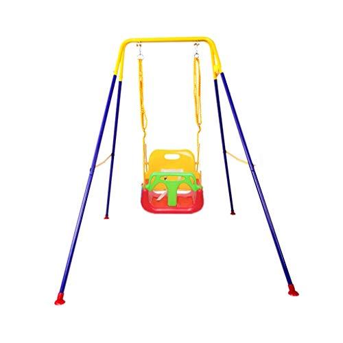 AYHa Oscilación de interior, hogar multifunción jardín al aire libre del asiento Montacargas parque de atracciones infantil Fold soporte de oscilación,C,110 * 160 * 173cm