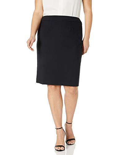 Calvin Klein Women's Straight Fit Suit Skirt (Regular Sizes), Navy, 18 Plus