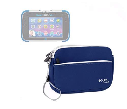 Duragadget Neoprenhülle für Vtech Storio Max XL 2.0 Kinder-Tablet (Blau oder Rosa 3480 – 194622) – wasserfest