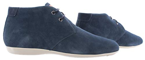 Santoni Chaussures Homme Ankle Boots Daim Bleu Deluxe Qualité Made in Italy New