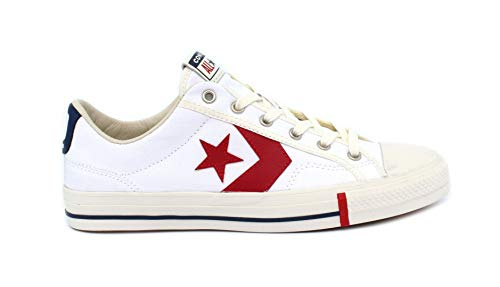 Converse, Uomo, Star Player Ox, Canvas, Sneakers, Bianco, 45 EU