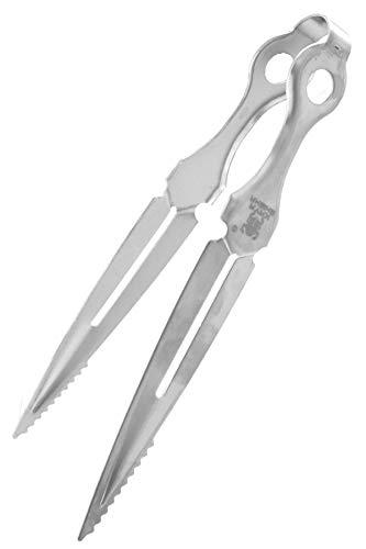 KAYA Shisha Kohlezange Dagger im Dolch Design [23cm groß] Absolut robust, rostfrei & hitze-isolierend - Shisha Zange aus Edelstahl als Kohlezange, Tabakzange, Fleischzange & BBQ Grillzange
