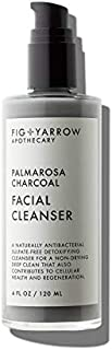 Fig + Yarrow Palmarosa Foaming Charcoal Facial Cleanser - 4 oz