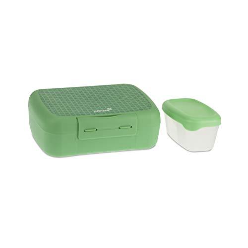Amuse Bruch & Salat-Box Fiambrera, Verde, 21 x 15,6 x 7,1 cm