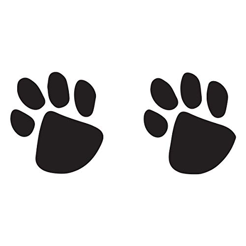 Black Paw Prints Temporary Tattoos (10-Pack) | Skin Safe | MADE IN THE USA| Removable