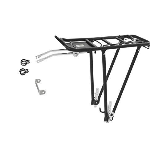 Ventura Screw On ll - Soporte trasero para bicicleta (aluminio; ajustable para tamaños 24/26/28'), color negro