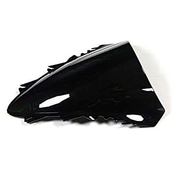 Windscreen Motorcycle Double Bubble Windshield Fit For Yamaha YZF1000 R1 07 08 YZF-1000 R1 2007 2008 ABS Plastic Windshield Fairings Windscreen Black