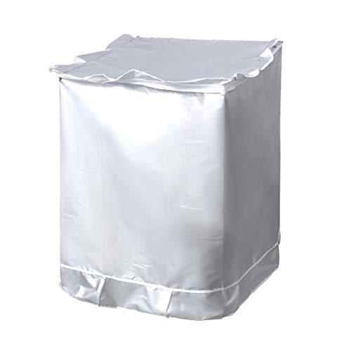 Vosarea cubierta de la lavadora protector solar a prueba de polvo más grueso cubierta de lavadora de carga superior impermeable para baño cocina baño balcón 59x57x84cm (plata)