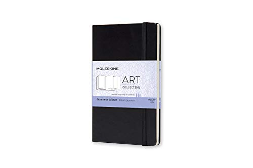 Moleskine Art Japanese Album, Hard Cover, Pocket (3.5' x 5.5') Plain/Blank, Black, 60 Pages