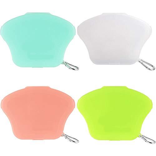JPYH 4 Stück Tragbare Masken Aufbewahrungsbox,Reusable Organizer,Staub und Verschmutzung,Tragbare Masken-Aufbewahrungstasche,4 Farben