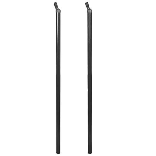 vidaXL 2X Zaunpfosten 150cm Grau Zaunpfahl Pfosten für Maschendraht Drahtzaun
