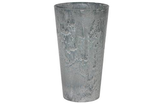 Artstone Pflanzgefäß Pflanzenkübel Claire, frostbeständig und leichtgewichtig, Grau, 37x70cm