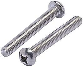 Machine Thread Bright Finish Stainless Steel 18-8 Full Thread Quantity 100 by Bridge Fasteners Phillips Drive #8-32 x 1-1//2 Flat Head Machine Screws
