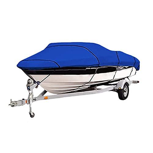 Funda para Barco Funda para Barco De Alta Resistencia Funda para Lancha Rápida Fish-Ski V-Hull Funda Protegida contra Rayos Ultravioleta Impermeable Durable Tela 600D Funda para Barco Yacht Blue 17