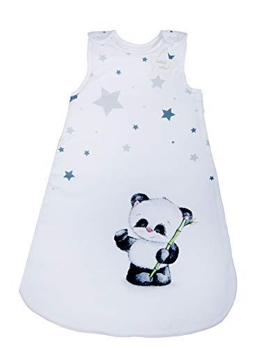 Herding Baby Best Baby-Schlafsack, Panda Motiv, 70 cm, Seitlich umlaufender Reißverschluss und Druckknöpfe, Weiß