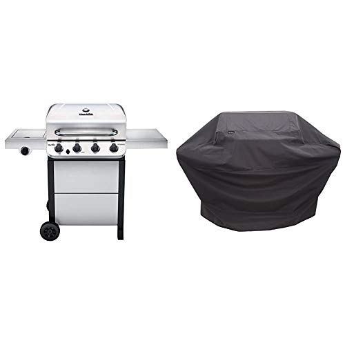 CharBroil 463377319 Performance 4Burner Cart Style Liquid Propane Gas Grill Stainless Steel amp Performance Grill Cover 34 Burner: Large