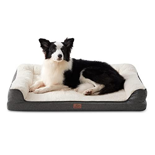 Bedsure orthopädische Hundebett große Hunde - Hundesofa mit Memory...