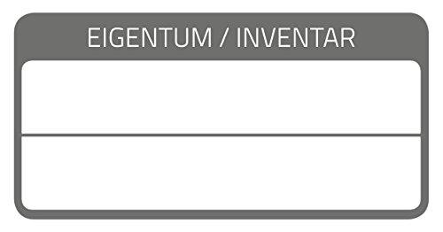 AVERY Zweckform 6903 laminierte Inventaretiketten (extrem stark selbstklebend, Kleinformat, 60x30 mm, 40 Aufkleber auf 10 Blatt) weiß/schwarz