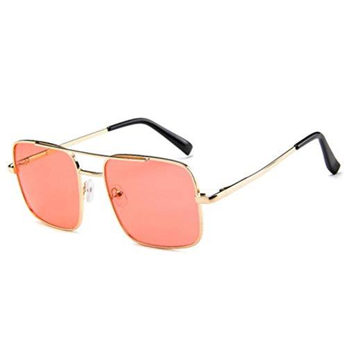 XCVB Fashion flat-top bril Zwarte dames zonnebril designer spiegel tinten zonnebril vrouwelijke, rood