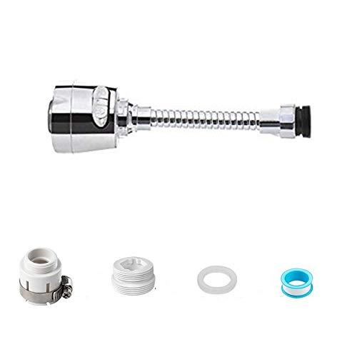 Grifo giratorio de grado para fregadero de cocina, aireador de grifo extraíble, cabezal giratorio de 360 °, cabezal de rociador de repuesto, antisalpicaduras(estilo más largo)