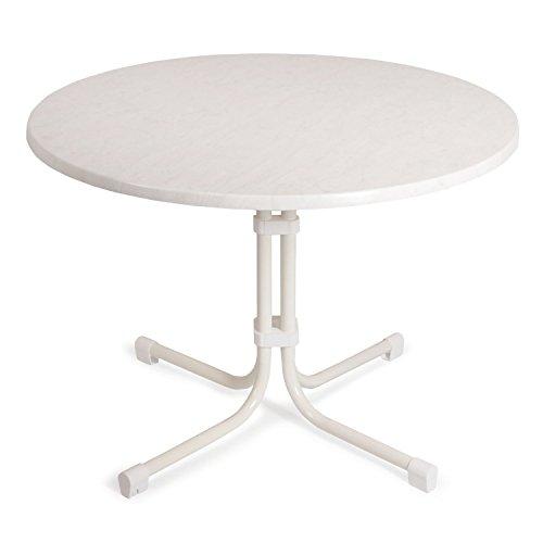 BEST 26531000 Tisch Boulevard rund, Durchmesser 100 cm, weiß