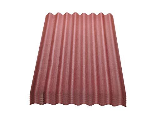 Onduline Easyline Dachplatte Wandplatte Trapezblech Wellplatte 6x0,76m² - rot