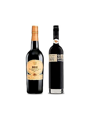 Vino Pedro Ximenez Noe de 75 cl y Vino VORS Pedro Ximenez Triana de 50 cl - Mezclanza Exclusiva