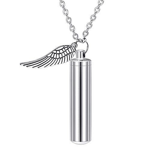 HooAMI Angel Wing Memorial Urn Necklace