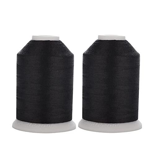 Hilo de coser Trilobal de poliéster, color blanco, negro, 40 W, Tkt...