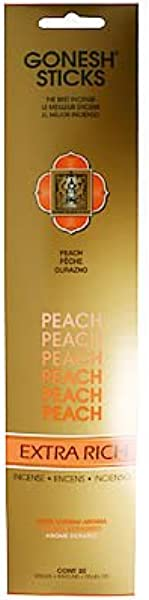 Gonesh Incense Sticks Extra Rich Collection Peach 20 Piece