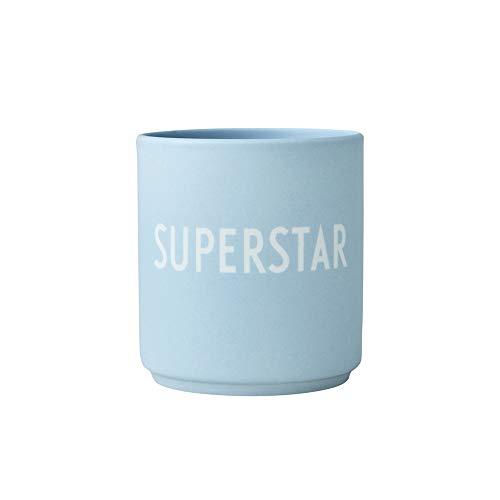 Design Letters Lieblingsbecher Hellblau SUPERSTAR | Tasse Personalisiert | Personalisierte Geschenke für Freund | Becher mit Spruch | Kaffeebecher/Kaffeetassen in Porzellan mit Buchstaben