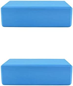 SKEIDO 2 Pack Yoga Block Brick Foaming Foam Home Exercise Fitness Gym Sport Tool Blue 225x 145x76mm