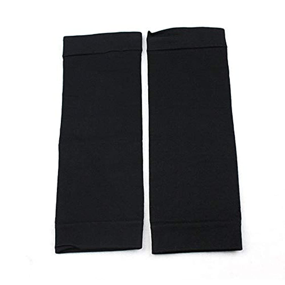 取り消すマークダウングリット1ペアウエストニッパーT高燃焼脂肪靴下圧縮レギンスレッグウォーマー圧力脂肪薄い脚パンツ燃焼脂肪ガード - ブラック