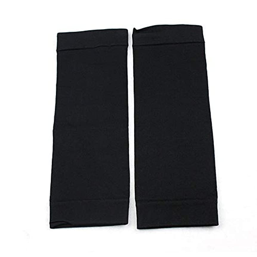 浴室敬の念ショップ1ペアウエストニッパーT高燃焼脂肪靴下圧縮レギンスレッグウォーマー圧力脂肪薄い脚パンツ燃焼脂肪ガード - ブラック
