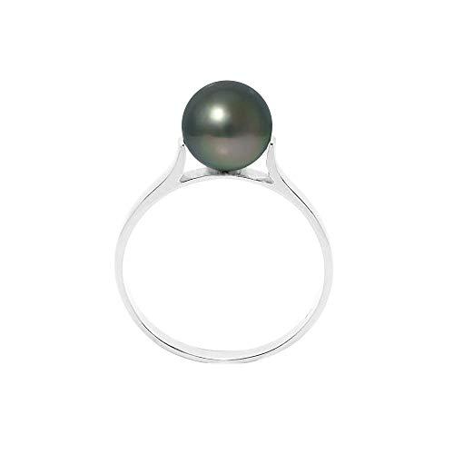 8 mm Tahitiperlen Ring und 925/1000 silber - Blue Pearls - 50 BPS K451 W